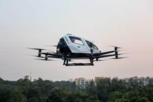 ehang passenger drone company q1 revenue cargo delivery trials